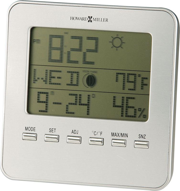 Howard Miller Weather View Table Clock